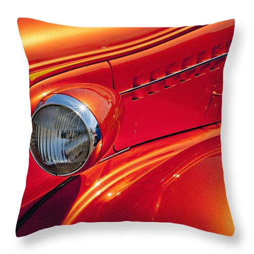 Auto Throw Pillow featuring the photograph Classic Car Lines by Paul W Faust - Impressions of Light