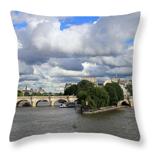 Paris France Throw Pillow featuring the photograph Classic Paris by Andrew Fare