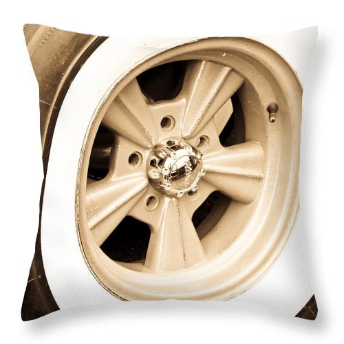 Mag Wheel Throw Pillow featuring the photograph Classic Wheel by Steve McKinzie