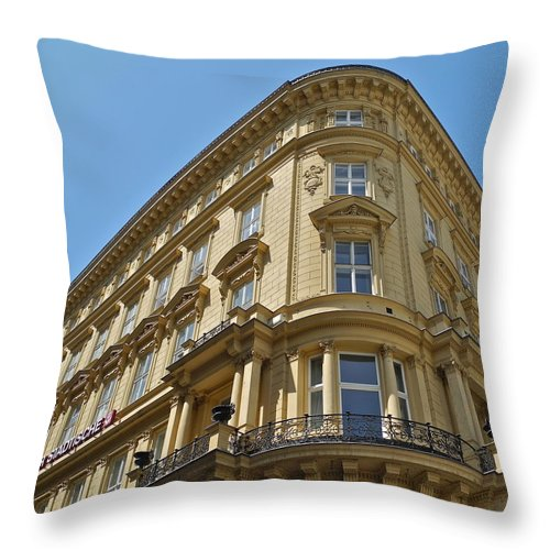Building Throw Pillow featuring the photograph Classical Architecture in Vienna by Kirsten Giving