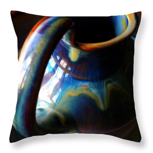 Clay Pitcher Throw Pillow featuring the photograph Clay Pitcher by Kristen Cavanaugh