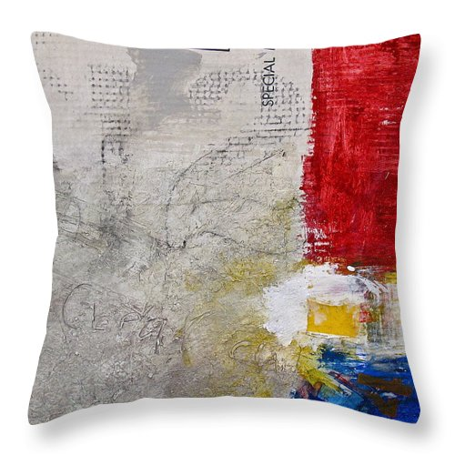 Abstract Painting Throw Pillow featuring the painting Clear Cut by Cliff Spohn
