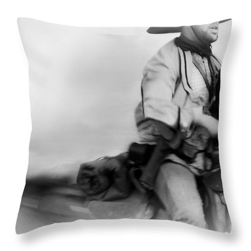 Reenactment Throw Pillow featuring the mixed media Clearing Smoke by Kim Henderson