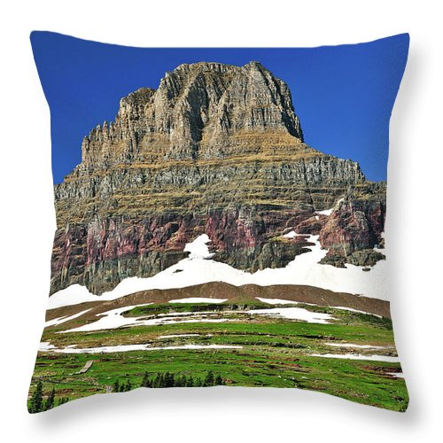 Clements Mountain Throw Pillow featuring the photograph Clements Mountain by Greg Norrell