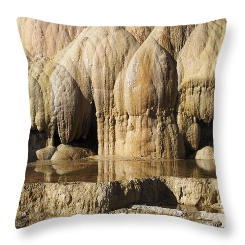 Unesco Throw Pillow featuring the photograph Cleopatra Terrace, Mammoth Hot Springs by Richard Roscoe