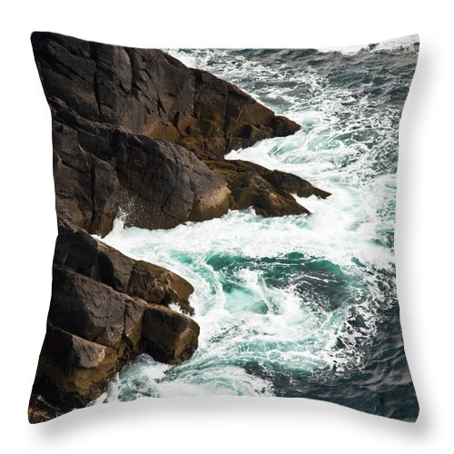 Cliffs Throw Pillow featuring the photograph Cliff Of Moher 18 by Douglas Barnett