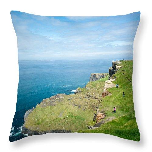 Cliffs Throw Pillow featuring the photograph Cliff Of Moher 26 by Douglas Barnett