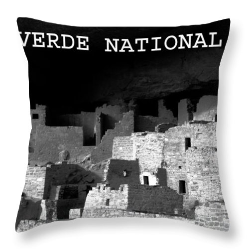 Fine Art Photography Throw Pillow featuring the photograph Cliff Palace by David Lee Thompson