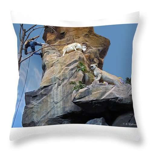 Cliffhanger Throw Pillow featuring the photograph Cliffhanger by Brian Wallace