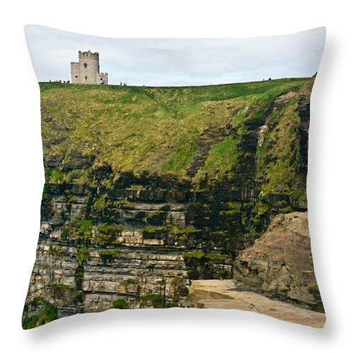 Throw Pillow featuring the photograph cliffs of Moher 38 by Douglas Barnett