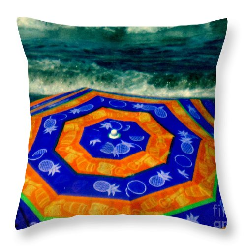 Ocean Throw Pillow featuring the photograph Close To The Ocean by Susanne Van Hulst