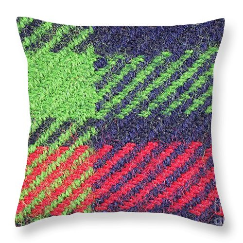 Texture Throw Pillow featuring the photograph Closeup Of Multi-colored Fabric by Yali Shi