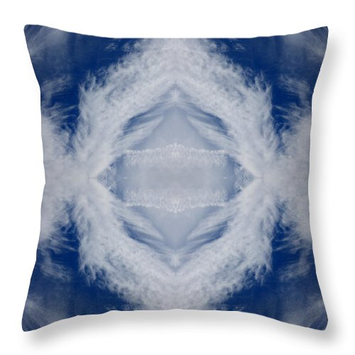 Featherclouds Throw Pillow featuring the photograph Cloud Abstract by Douglas Barnard