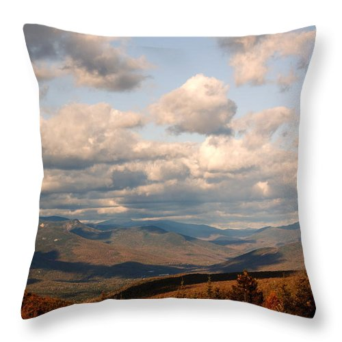 Clouds Throw Pillow featuring the photograph Clouds And Mountains by Amanda Kiplinger