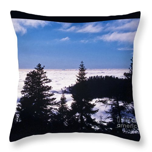 Mountains Throw Pillow featuring the photograph Clouds At Sequoia National Park by Stephen Whalen