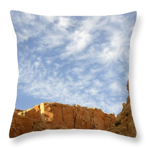 Beauty Of Sandstone Throw Pillow featuring the photograph Desert Landscape by Bob Christopher