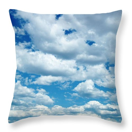 Clouds Throw Pillow featuring the photograph Clouds by Caroline Lomeli