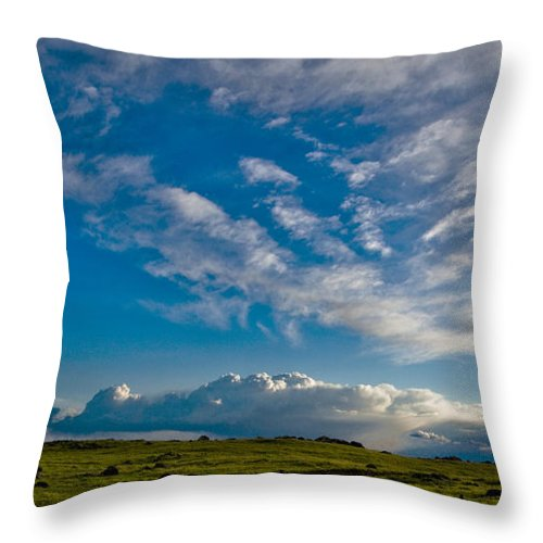 Throw Pillow featuring the photograph Clouds Iv by Donovan Conway