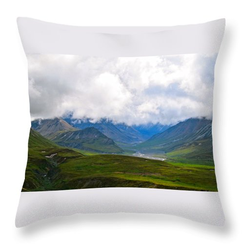 Alaska Throw Pillow featuring the photograph Cloudy Bravado by Michael Anthony