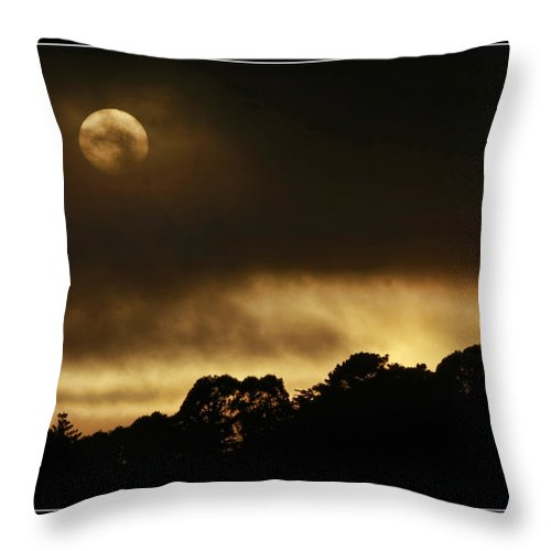 Art Photography Throw Pillow featuring the photograph Cloudy Sunset by Blake Richards