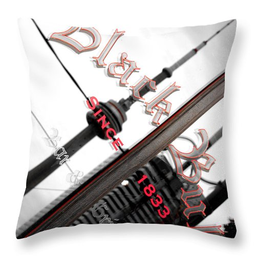 Cn Tower Throw Pillow featuring the photograph Cn Tower Reflected by Valentino Visentini