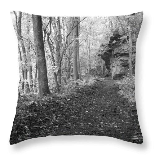 Trek Throw Pillow featuring the photograph Coal Miners Trek by David Troxel