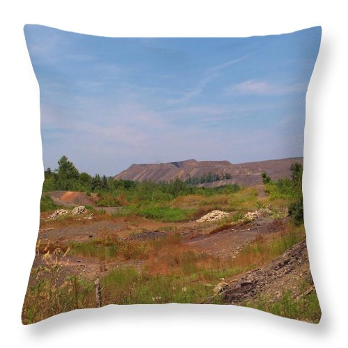 Centralia Pa Throw Pillow featuring the photograph Coal Region by Michele Nelson
