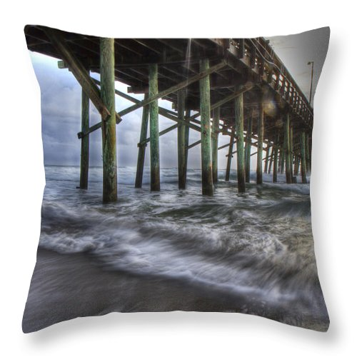 Topsail Throw Pillow featuring the photograph Coastal Echos by Betsy Knapp