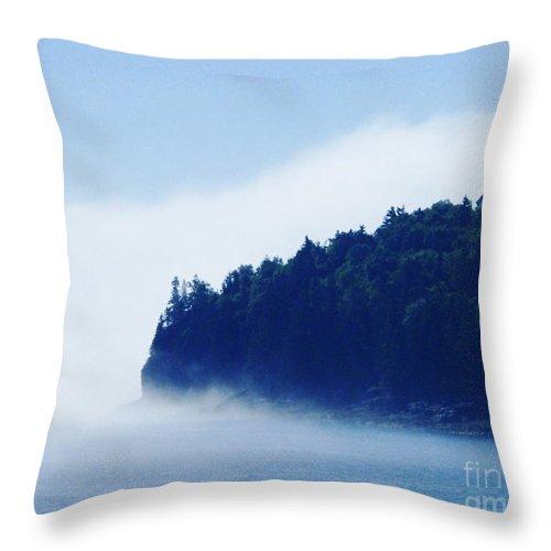 Fog Throw Pillow featuring the photograph Coastal Morning Fog by Lizi Beard-Ward