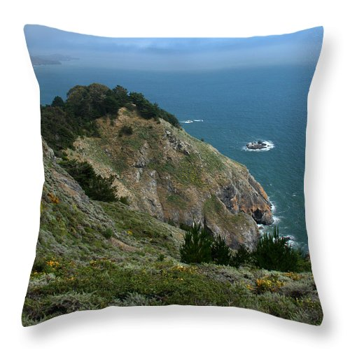 Pacific Ocean Throw Pillow featuring the photograph Coastal View by Caroline Stella