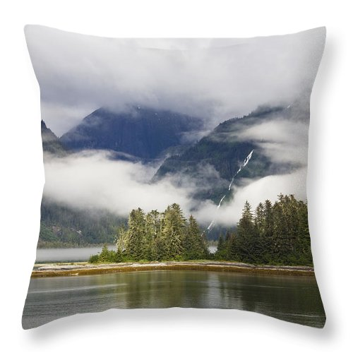 Mp Throw Pillow featuring the photograph Coastline, Endicott Arm, Inside by Konrad Wothe