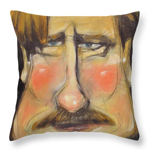 Conan Throw Pillow featuring the painting Coco by Tim Nyberg