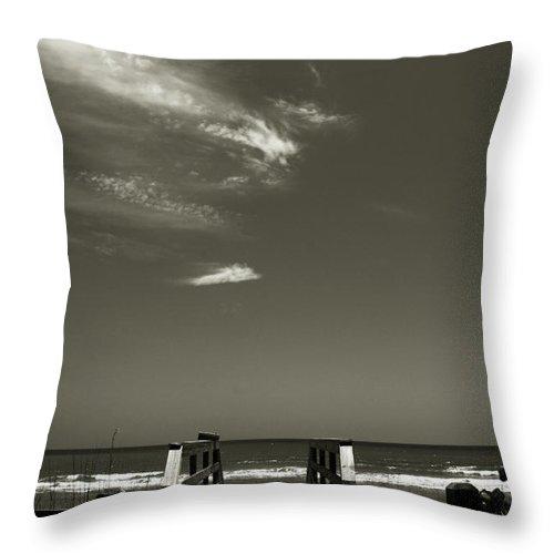 Beach Throw Pillow featuring the photograph Coconut Point Beach Fl by Susanne Van Hulst