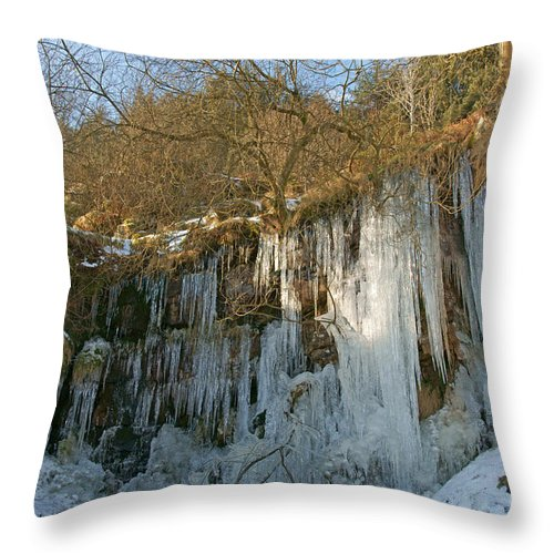 Cold Throw Pillow featuring the photograph Cold Day In The Valley by David Birchall
