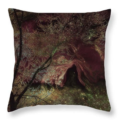 Space Art Throw Pillow featuring the digital art Collecting Space by Linda Sannuti