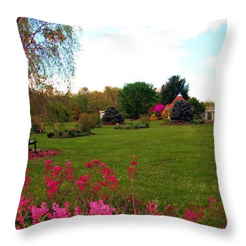 Garden Throw Pillow featuring the photograph Colonial Garden by Susan Carella