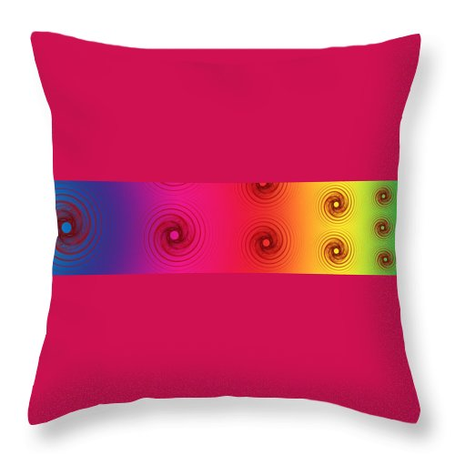 Render Throw Pillow featuring the digital art Color Chart One by Betsy Knapp