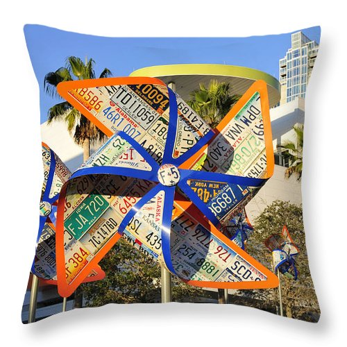 Fine Art Photography Throw Pillow featuring the photograph Colorful Flowers by David Lee Thompson
