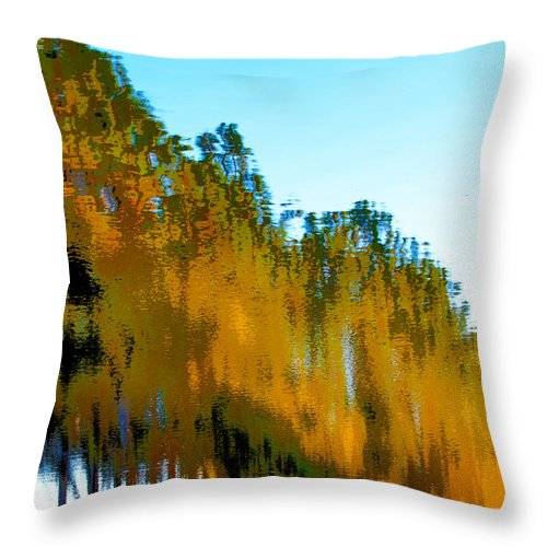 Reflection Throw Pillow featuring the photograph Colorful Water by Michelle Constantine