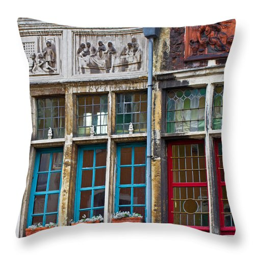 Europe Throw Pillow featuring the photograph Colorful Windows by David Freuthal