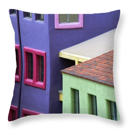 Bronstein Throw Pillow featuring the photograph Colors Of Tucson by Sandra Bronstein