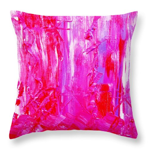 Colors Throw Pillow featuring the painting Colorz 6 by Piety Dsilva