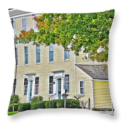 Columbian House Throw Pillow featuring the photograph Columbian House by Jack Schultz