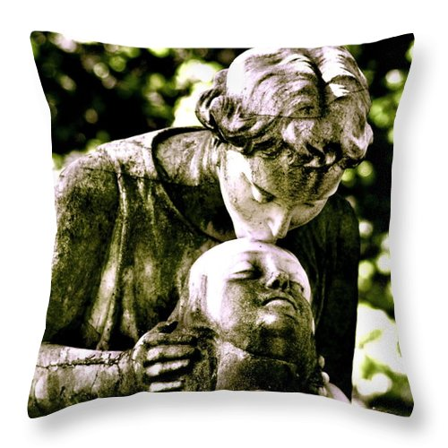 Statue Throw Pillow featuring the photograph Comforted by Valerie Rosen