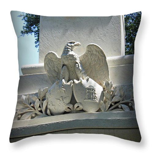 Vignette Throw Pillow featuring the photograph Commemoration by Suzanne Gaff