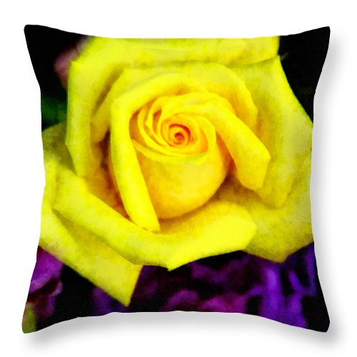 Rose Throw Pillow featuring the photograph Compliments by Angelina Vick