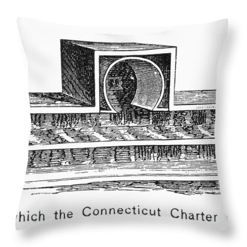 1687 Throw Pillow featuring the photograph Connecticut: Charter Box by Granger