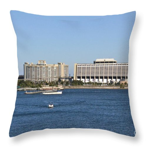 Hotel Throw Pillow featuring the photograph Contemporary Hotel by Carol Bradley