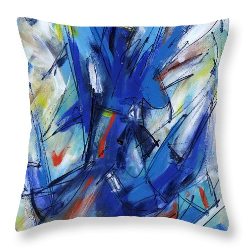 Contemporary Throw Pillow featuring the painting Contemporary Painting Six by Lynne Taetzsch
