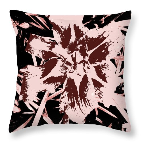 Abstract Throw Pillow featuring the painting Contrasting by Renate Nadi Wesley